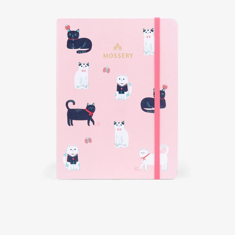 Dotted Notebook · Cats Pink