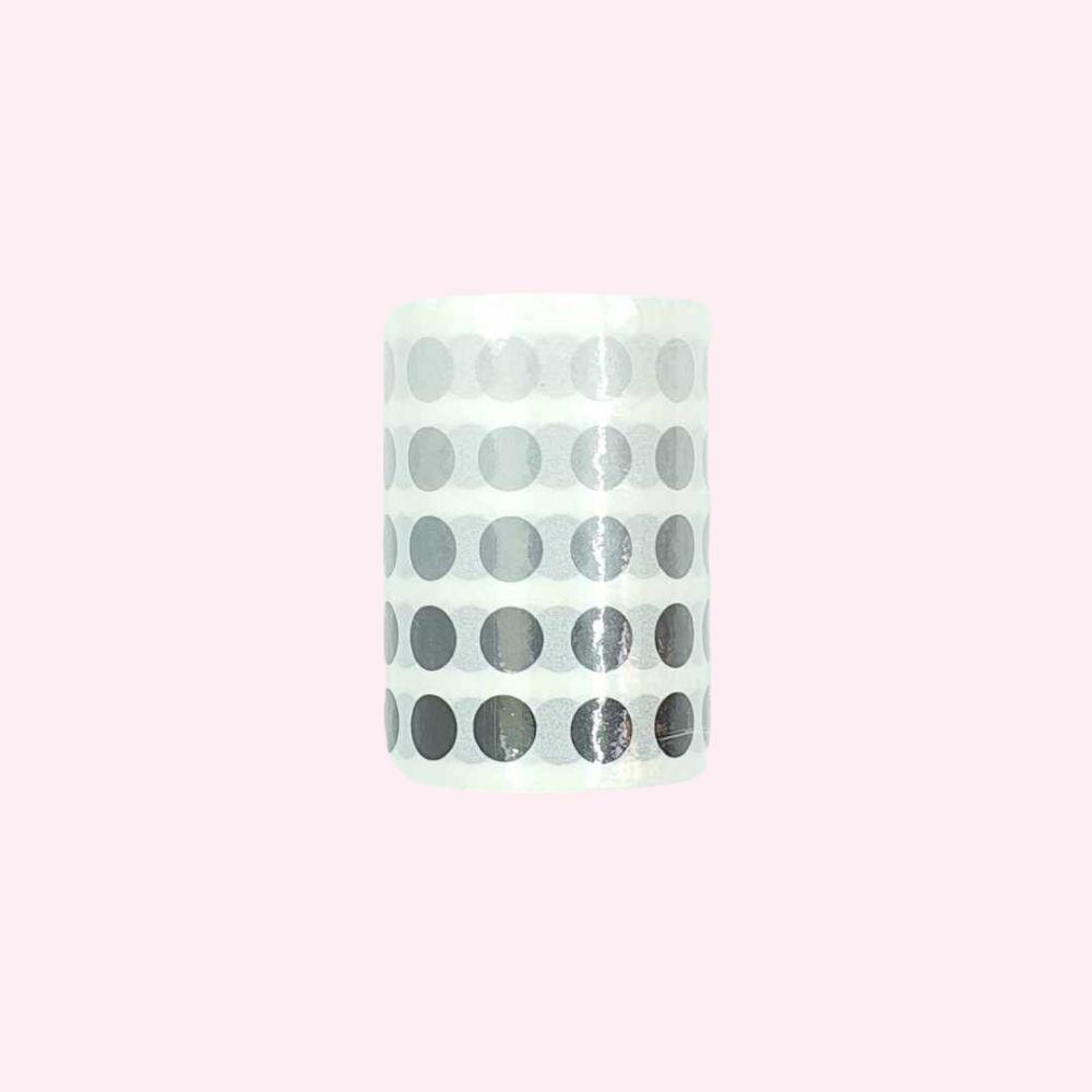 Colourful Dot Washi Stickers - Charcoal - Bujoish