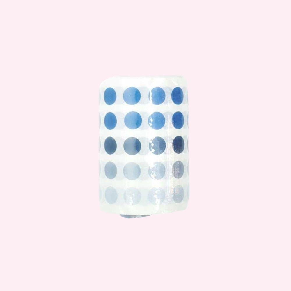 Colourful Dot Washi Stickers - Cornflower - Bujoish