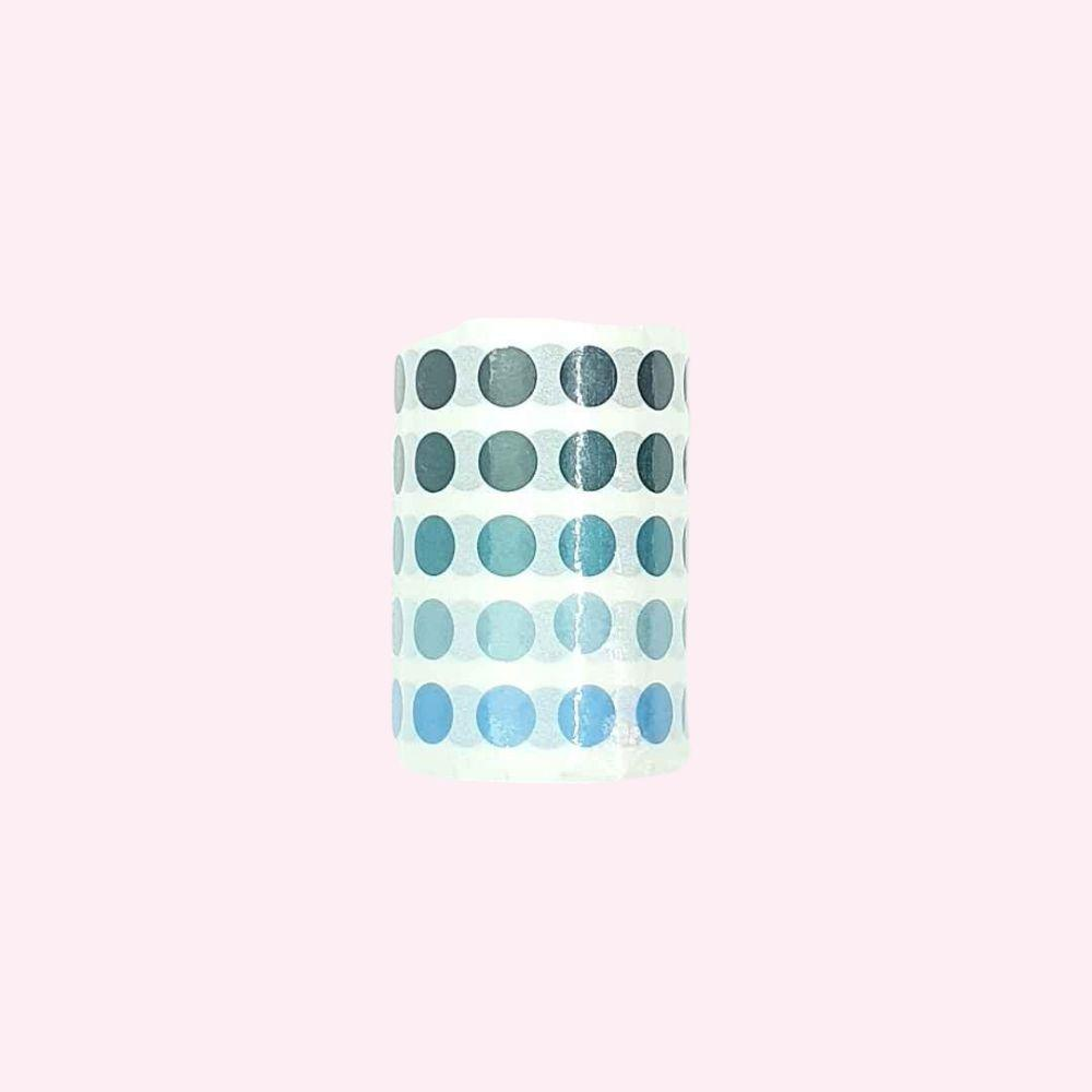 Colourful Dot Washi Stickers - Sea Marine - Bujoish