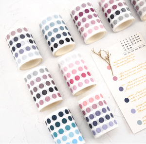 Load image into Gallery viewer, Colourful Dot Washi Stickers - Sea Marine - Bujoish