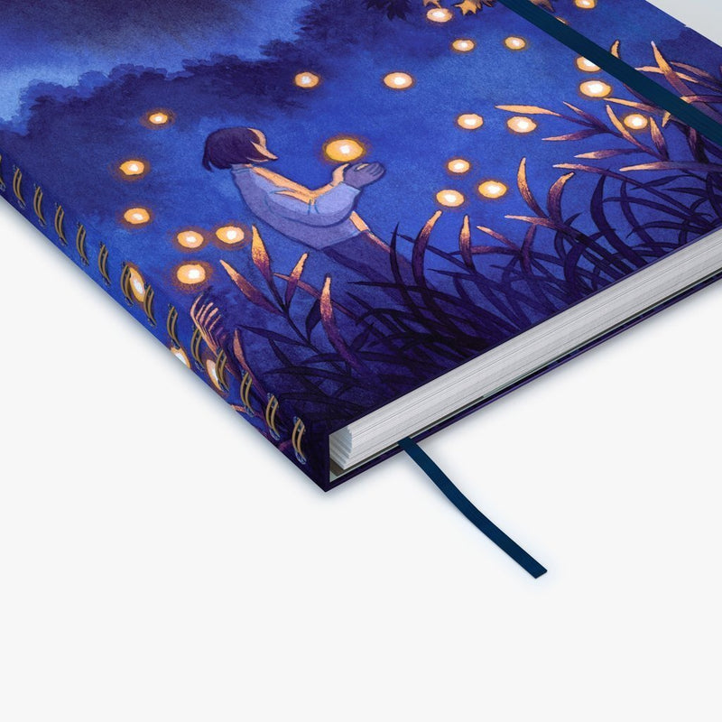 Mossery × @HEIKALA Fireflies Wirebound Notebook - Bujoish