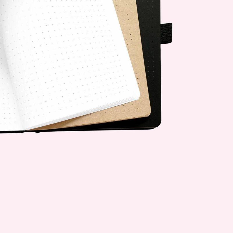 Neapolitan - Crescent Moon Dot Grid Notebook - A5 - Bujoish