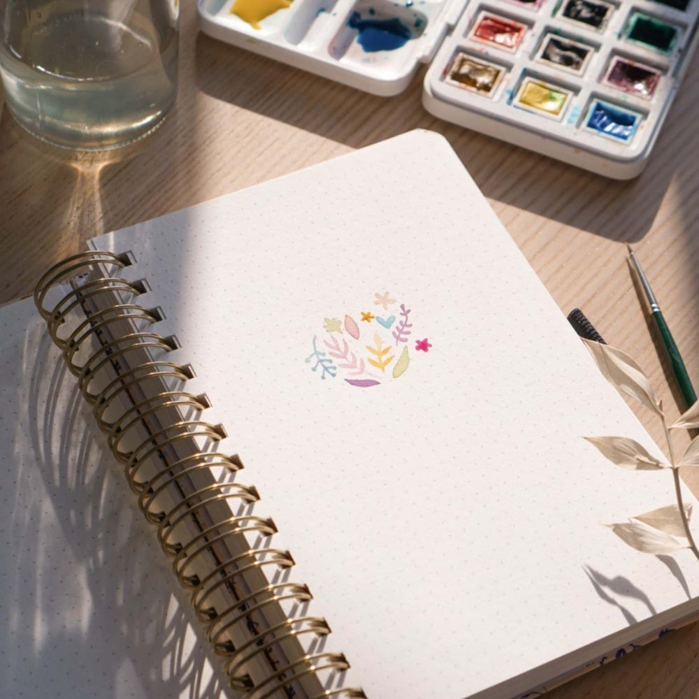 Watercolour Dot Grid Journal · Blush-a-bye · A5