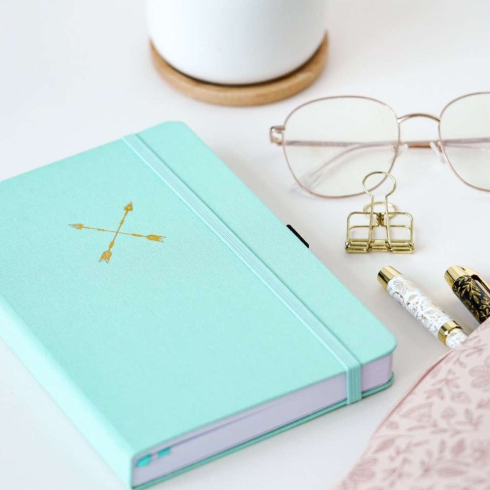 Load image into Gallery viewer, Twin Arrows Dot Grid Notebook - A5