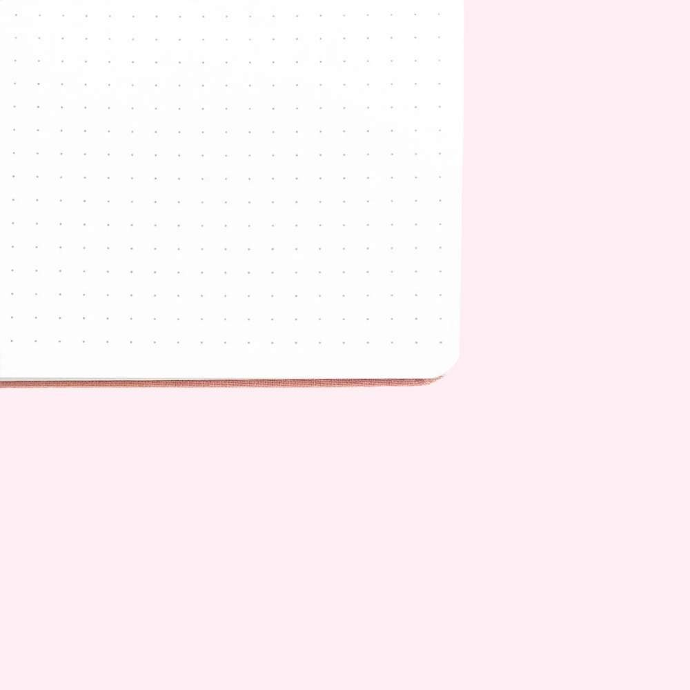 Red Leaf Dot Grid Notebook - A5 - Bujoish