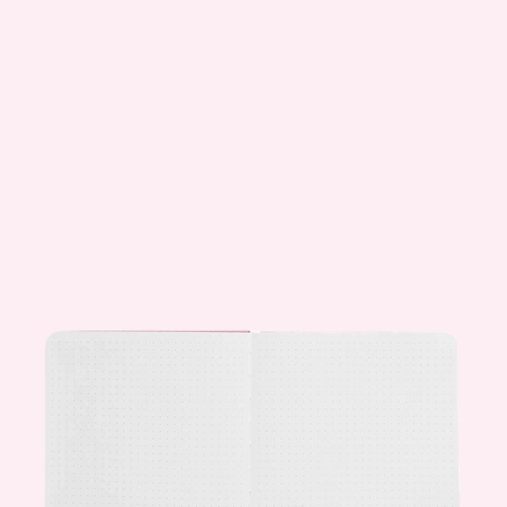 Rose Gold Dot Grid Notebook - A5 - Bujoish