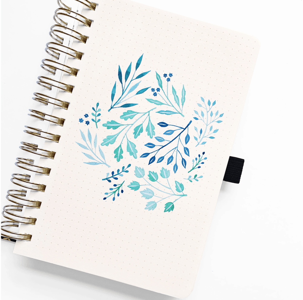 Load image into Gallery viewer, Watercolour Dot Grid Journal · Blush-a-bye · A5 - Bujoish