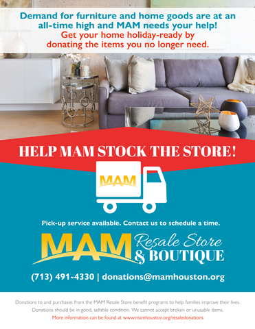 Furniture and Home Goods Donations Needed