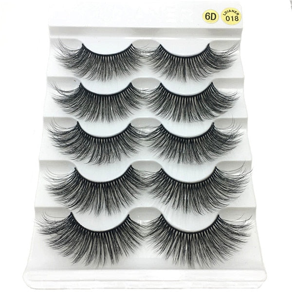 5 Pairs 6D Faux Mink False Eyelashes