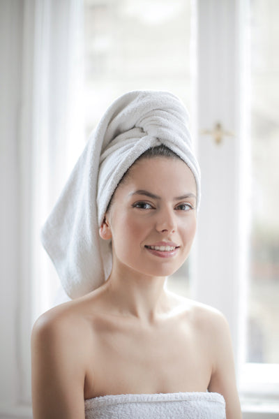 Woman with clean skin after sugar detox
