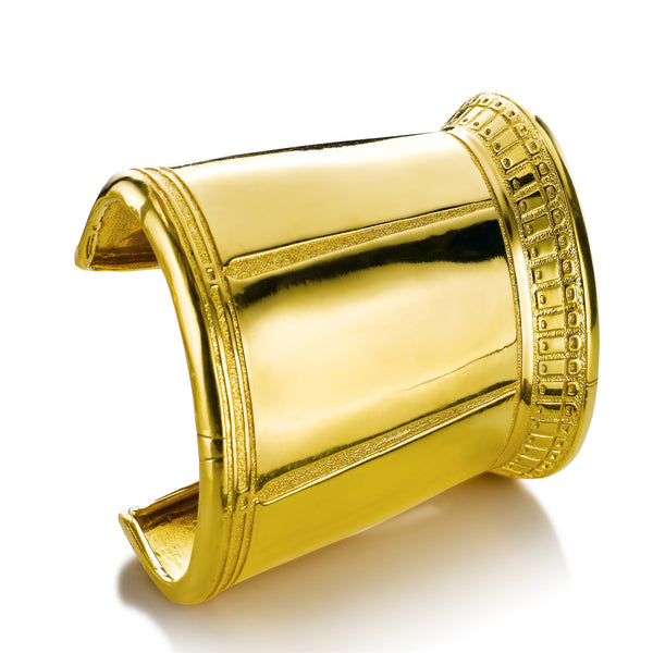 VINTAGE KARL LAGERFELD GOLD TONE CUFF CIRCA 1980'S