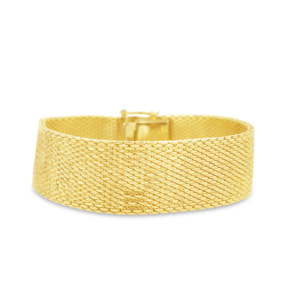 VINTAGE GROSSE GERMANY GOLD MESH BRACELET
