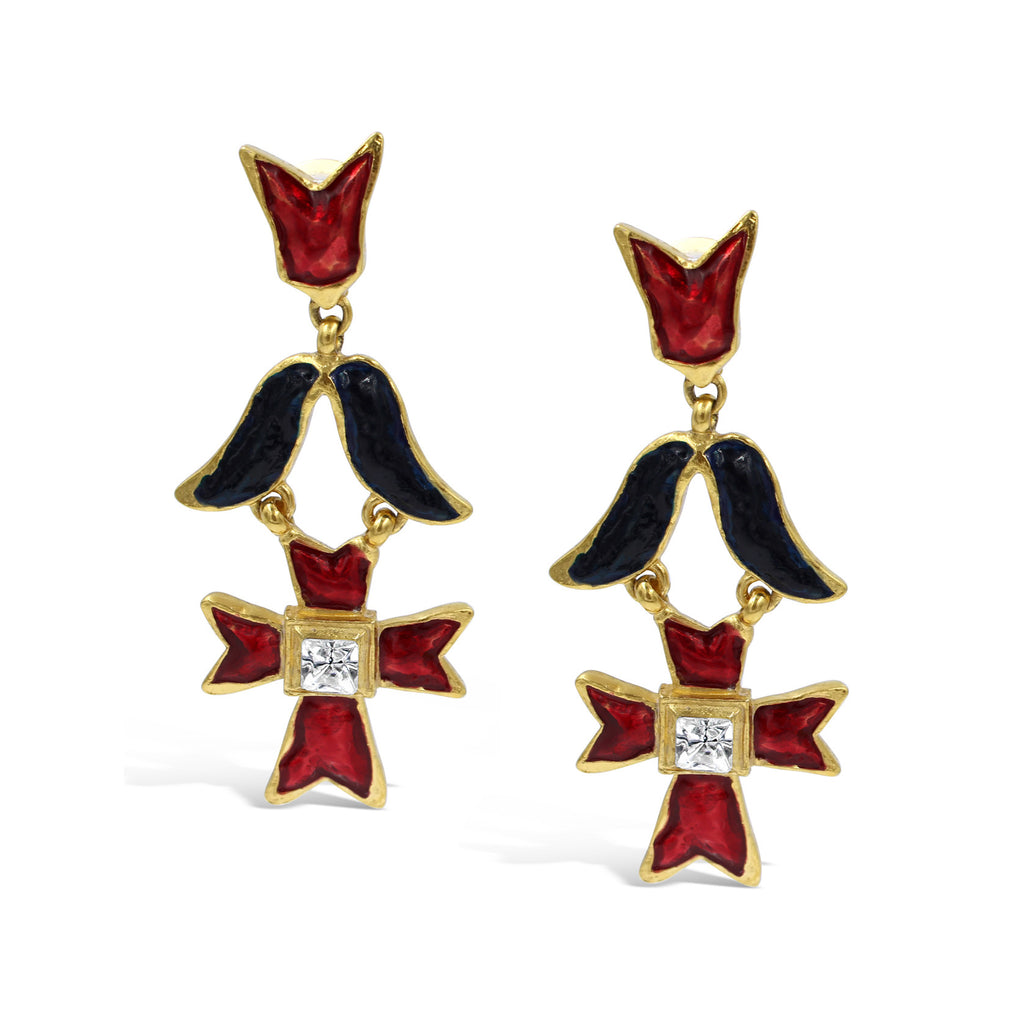 VINTAGE CHRISTIAN LACROIX ICONIC EARRINGS CIRCA 1980'S