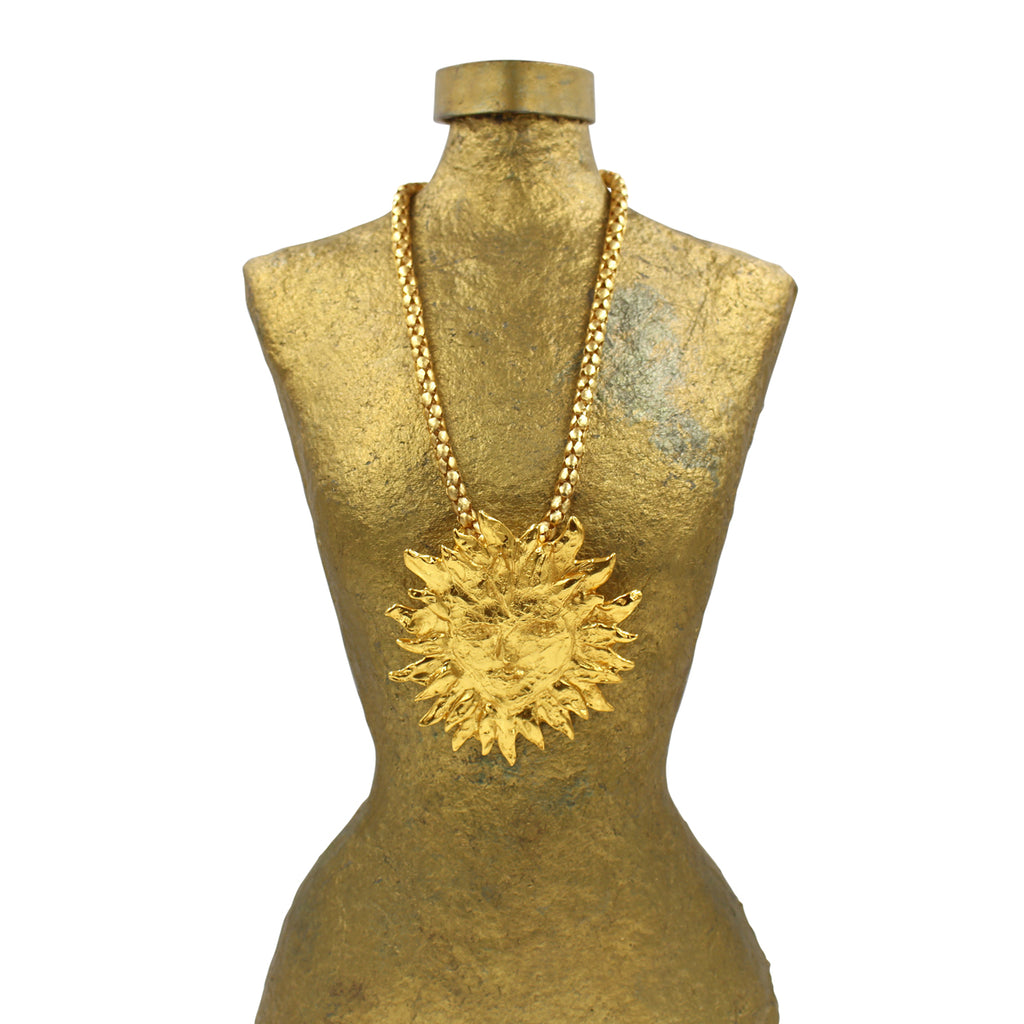VINTAGE YSL ICONIC SUN NECKLACE CIRCA 1980'S