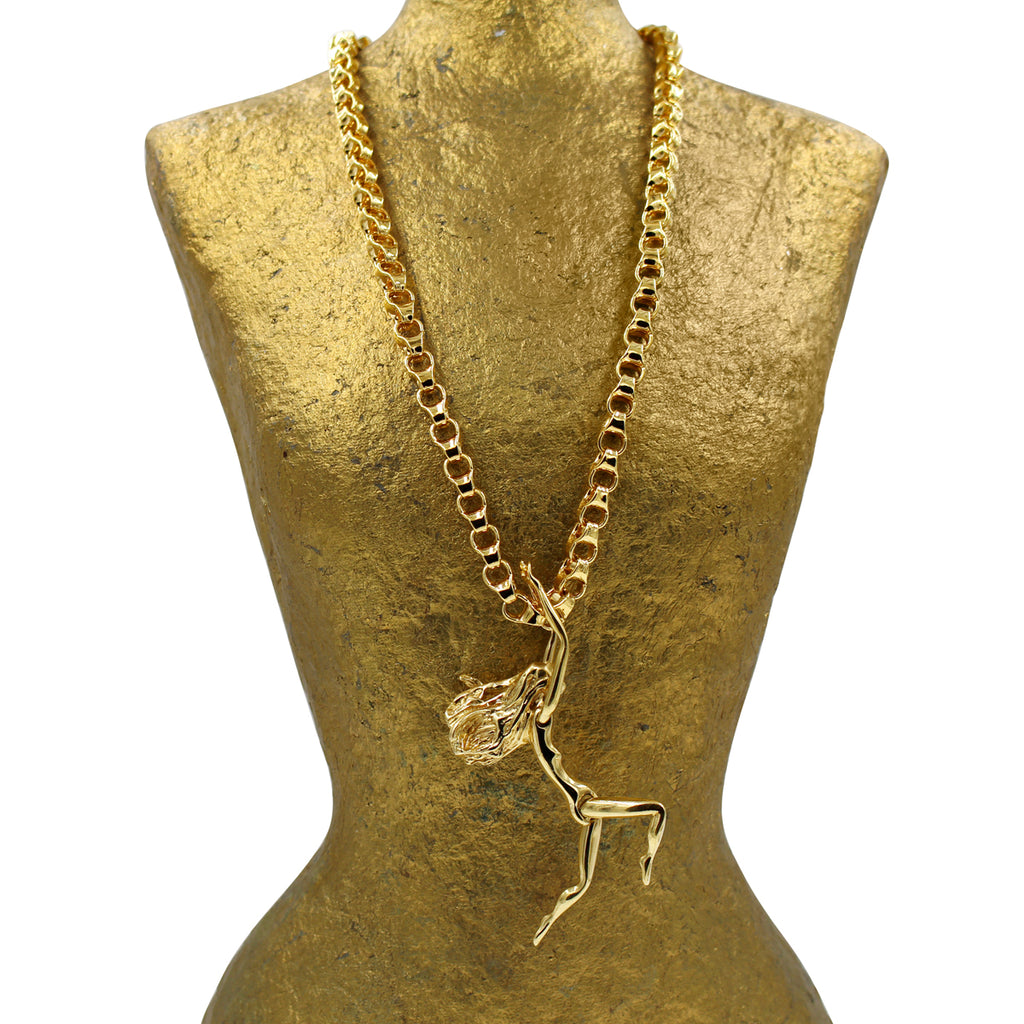 VINTAGE JULIAN SNELLING GOLD TONE GIRL CIRCA 1970'S