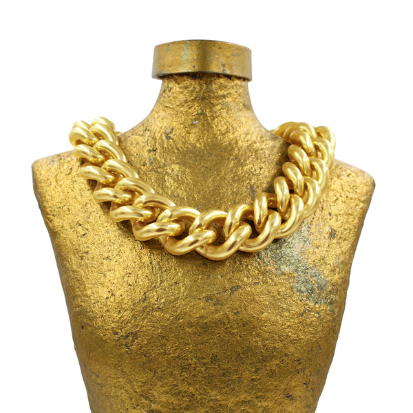 VINTAGE GOLD TONE LARGE LINK NECKLACE