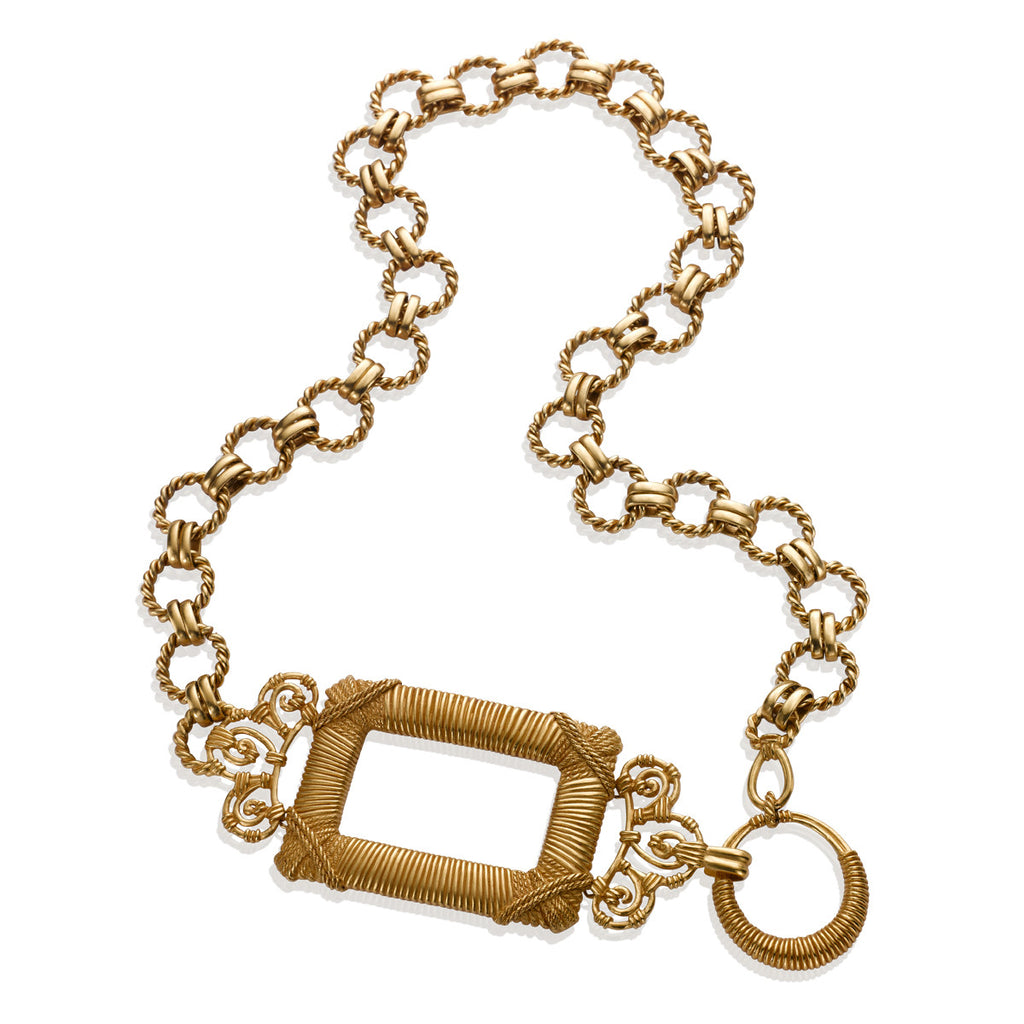VINTAGE CHRISTIAN DIOR GOLD TONE NECKLACE OR BELT CIRCA 1980'S