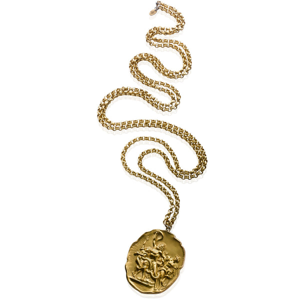 VINTAGE GOLD TONE MYTHOLOGICAL PENDANT CIRCA 1960'S
