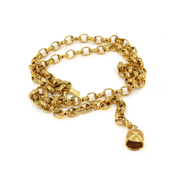 VINTAGE BILL BLASS GOLD TONE NECKLACE OR BELT CIRCA 1980'S