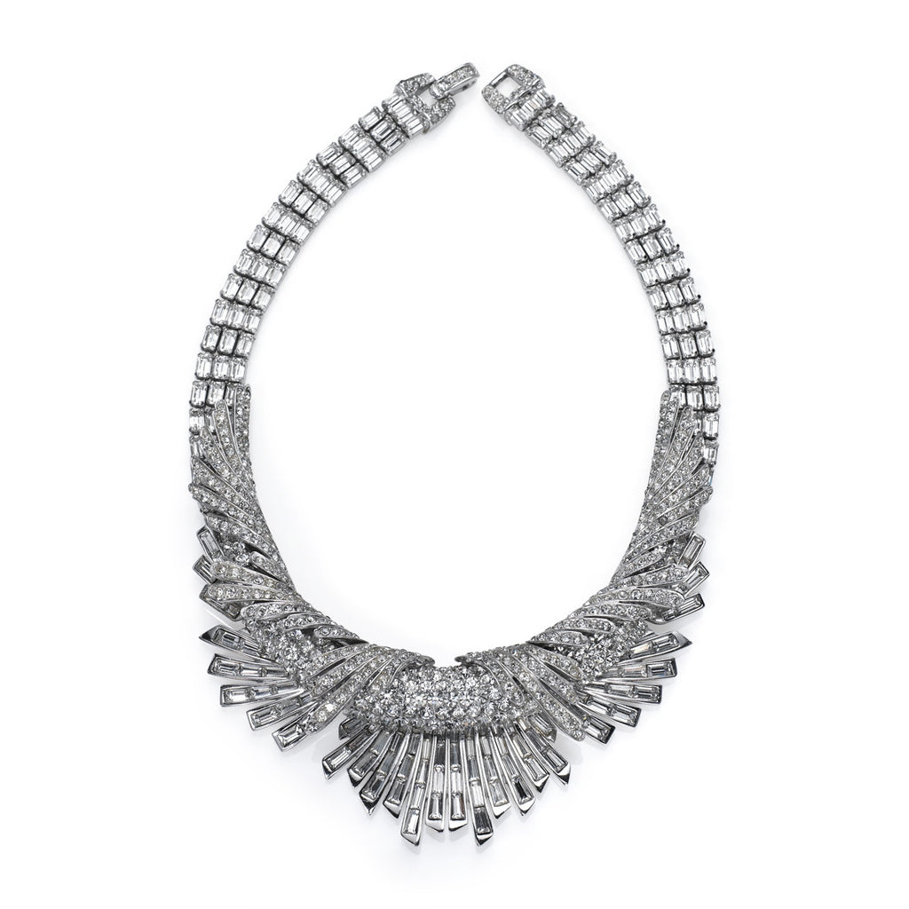 VINTAGE BOUCHER DIAMANTE DIMENSIONAL NECKLACE CIRCA 1960'S