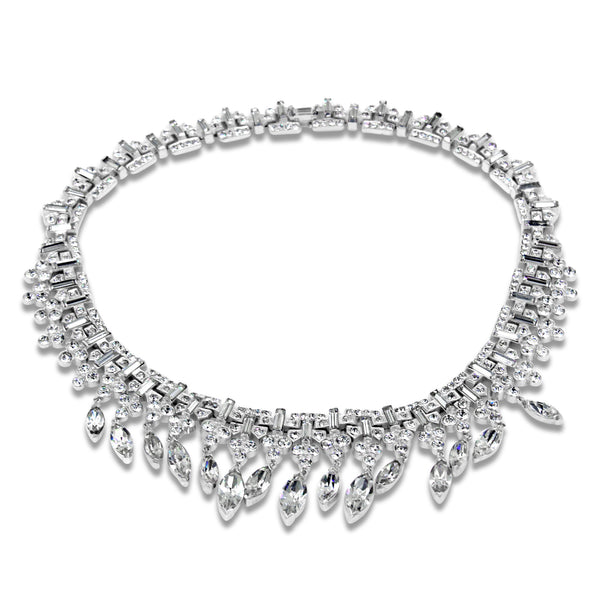 VINTAGE TRIFARI DIAMANTE NECKLACE CIRCA 1960'S
