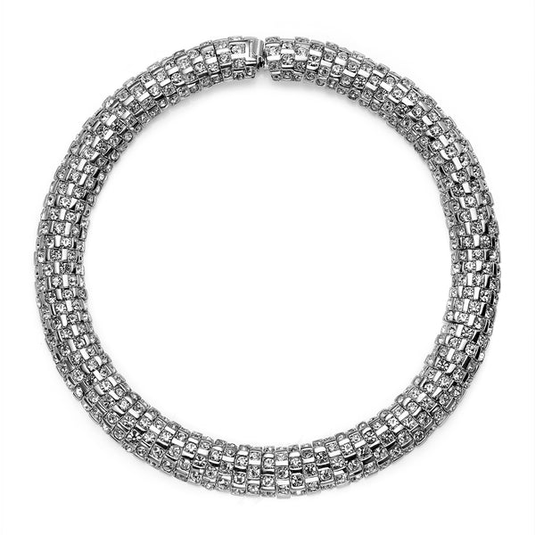 VINTAGE DIAMANTE ST. JOHN COLLAR NECKLACE CIRCA 1980'S