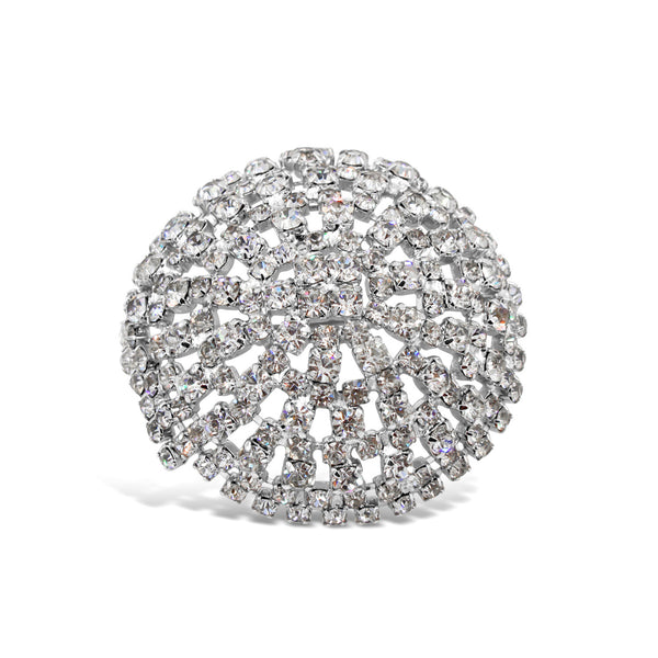 VINTAGE VENDOME DIAMANTE DOMED BROOCH CIRCA 1960'S