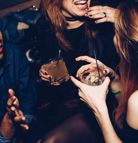 Friends in a party having drinks