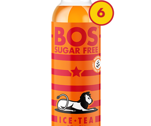 BOS Ice Tea Sugar Free Peach 500ml 6pack