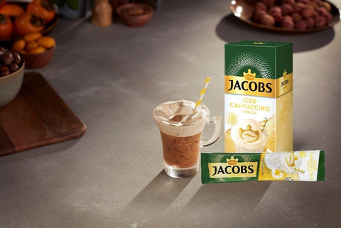 Jacobs Iced Coffee Cappuccino Vanilla Pack of 8 sticks