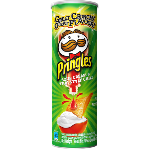 Pringles Sour Cream and Thai Chilli flavoured savoury snack 110g