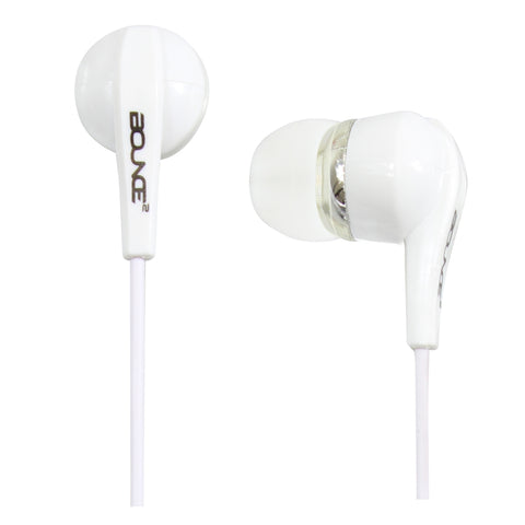 Bounce Hustle Series Earphones - White - FYIonline