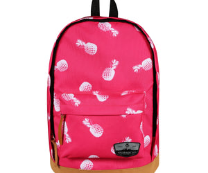 Volkano Suede Series Backpack Pineapples (Pink) - FYIonline