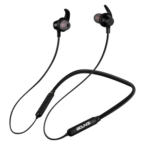 Bounce Bachata Series Bluetooth Earphones with Neckband - Black - FYIonline