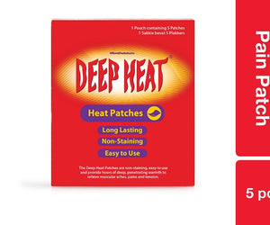 Deep Heat Pain Patch 5pc Pack of 36