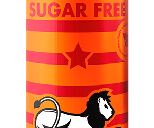 BOS Ice Tea Sugar Free Peach 300ml can 4pack