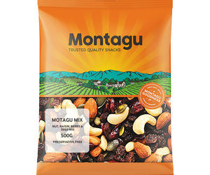 Montagu Nut Raisin Berry and Seed Mix 500g