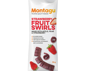 Montagu Fruit Swirls Strawberry 50g Pack of 10