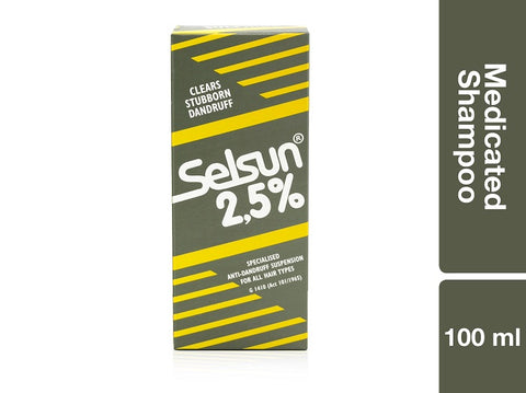 Selsun 2.5 Medicated Shampoo 100ml Pack of 48
