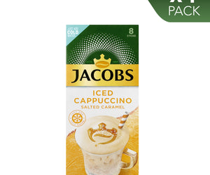 Jacobs Iced Coffee Cappuccino Salted Caramel 1 x Pack of 8 sticks