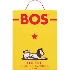 BOS Ice Tea 3l box dispenser Lemon case of 4