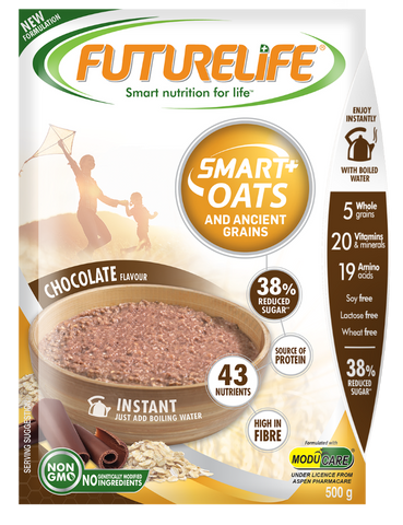 Futurelife Smart Oats and Ancient Grains Chocolate 500g Case of 12