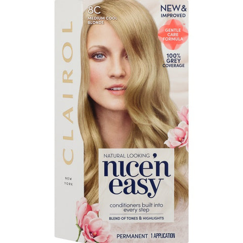 Nice and Easy Natural Medium Cool Blond 8c - FYIonline