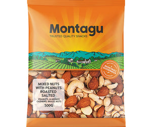 Montagu Mixed Nuts Roasted and Salted with Peanuts 500g
