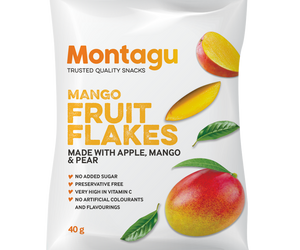 Montagu Fruit Flakes Mango 40g Pack of 10
