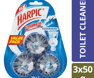 Harpic Flushmatic Blocks Aquamarine 50g Case of 24