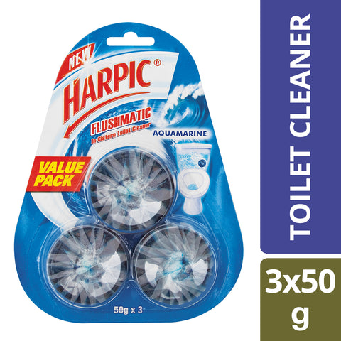 Harpic Flushmatic Blocks Aquamarine 50g