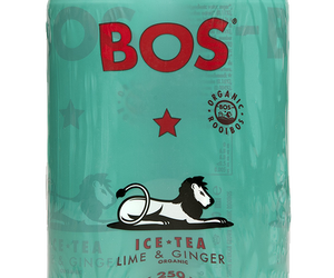 BOS Ice Tea Lime and Ginger 330ml can 4pack