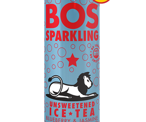 BOS Ice Tea Sparkling Blueberry and Jasmine 300ml can case of 24